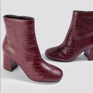 XLE Red Crocodile Booties
